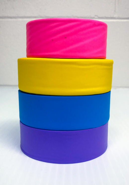 Brightly colored flaggers tape
