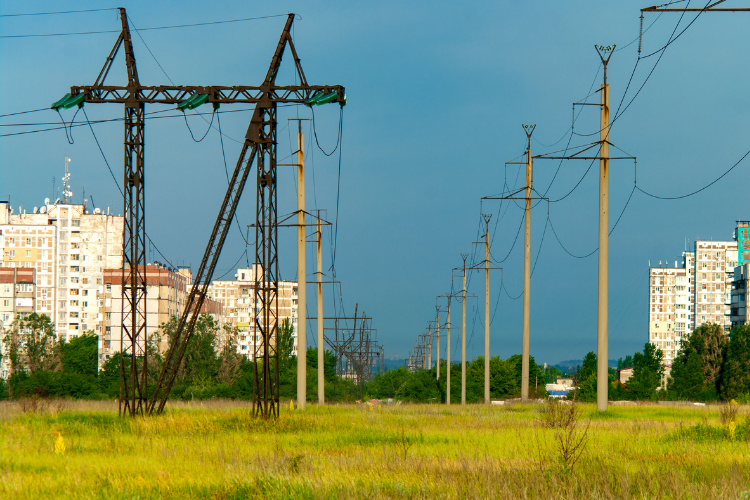 Picture of power lines