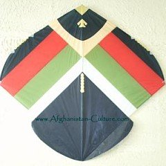 Afghani Fighter Kite - note the curves on this beauty.
