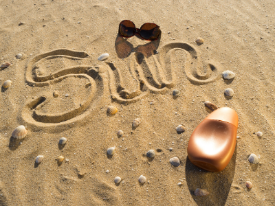 There can be fun to be had in the sun, but always make sure to wear enough protection such as sunglasses and sunscreen!