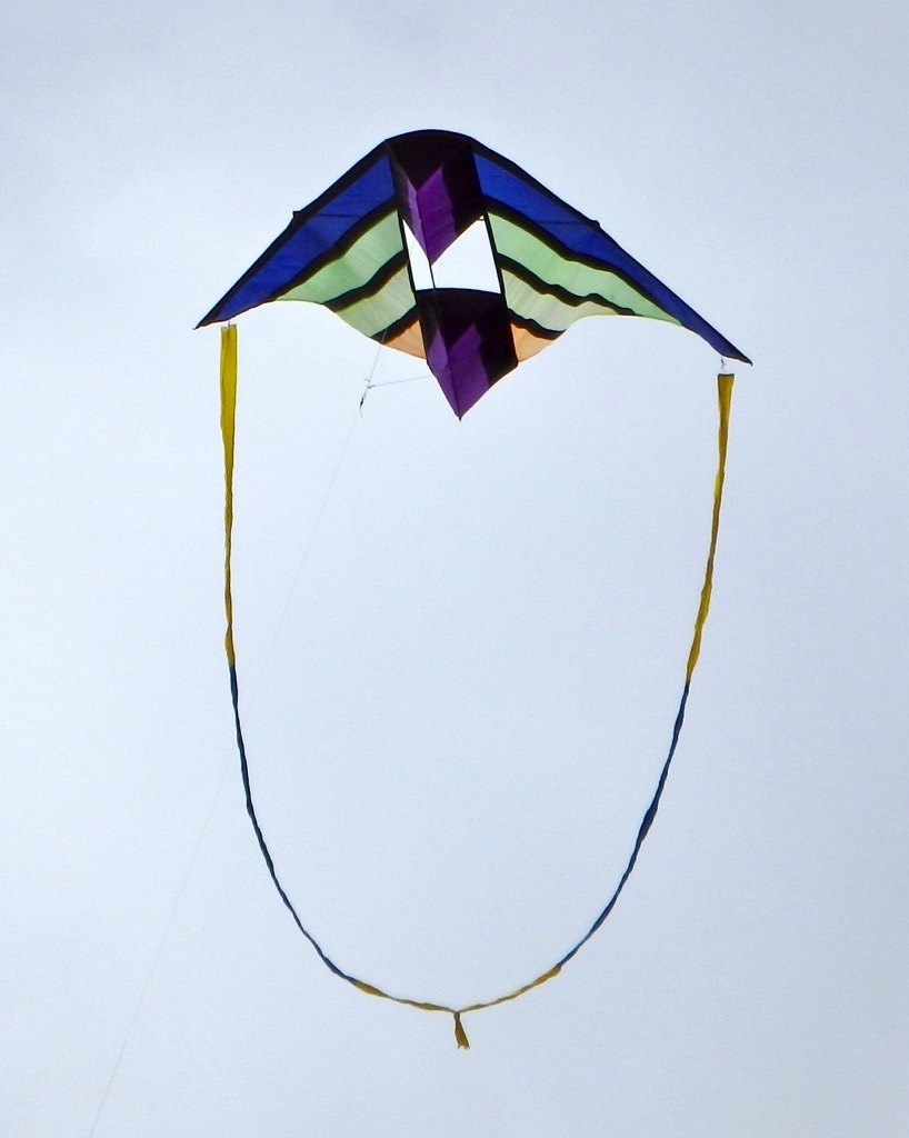 Kite with loop tail connected from wingtip to wingtip