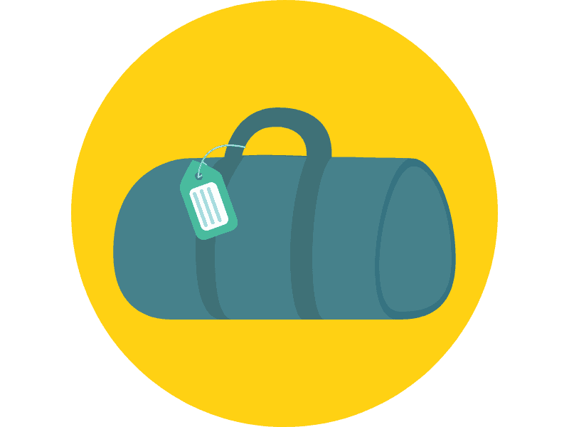 A duffel bag makes for a great way to transport your kit.